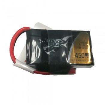 Tattu - 418 - 450mAh 1S1P 3.7V 75C LiPo JST-SYP Plug Soft Case 42x24x9mm