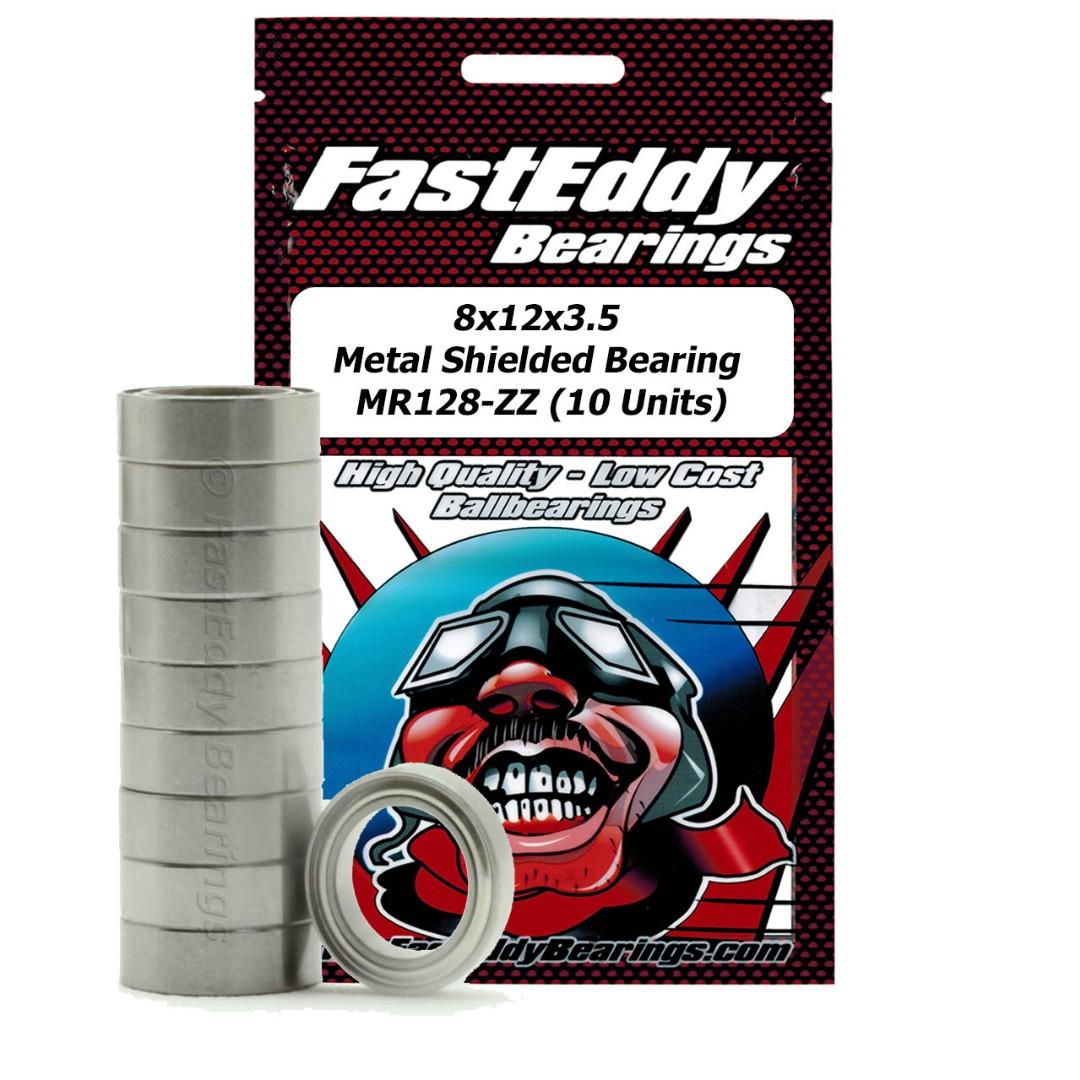 Fast Eddy Tamiya 1280 Metal Shielded Replacement Bearing 8X12X3.5 (10 Units)
