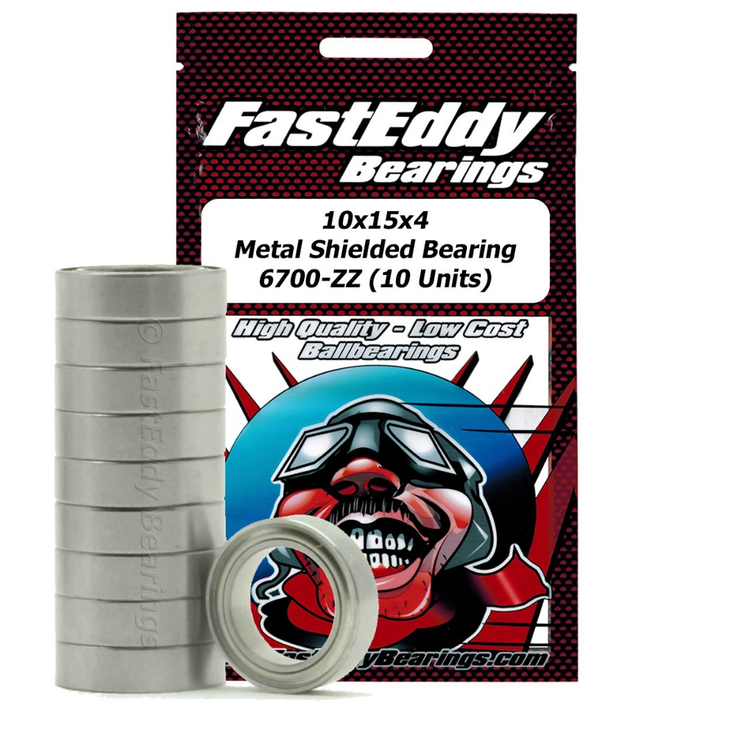 Fast Eddy Tamiya 1510 Metal Shielded Replacement Bearing 10X15X4 (10 Units)