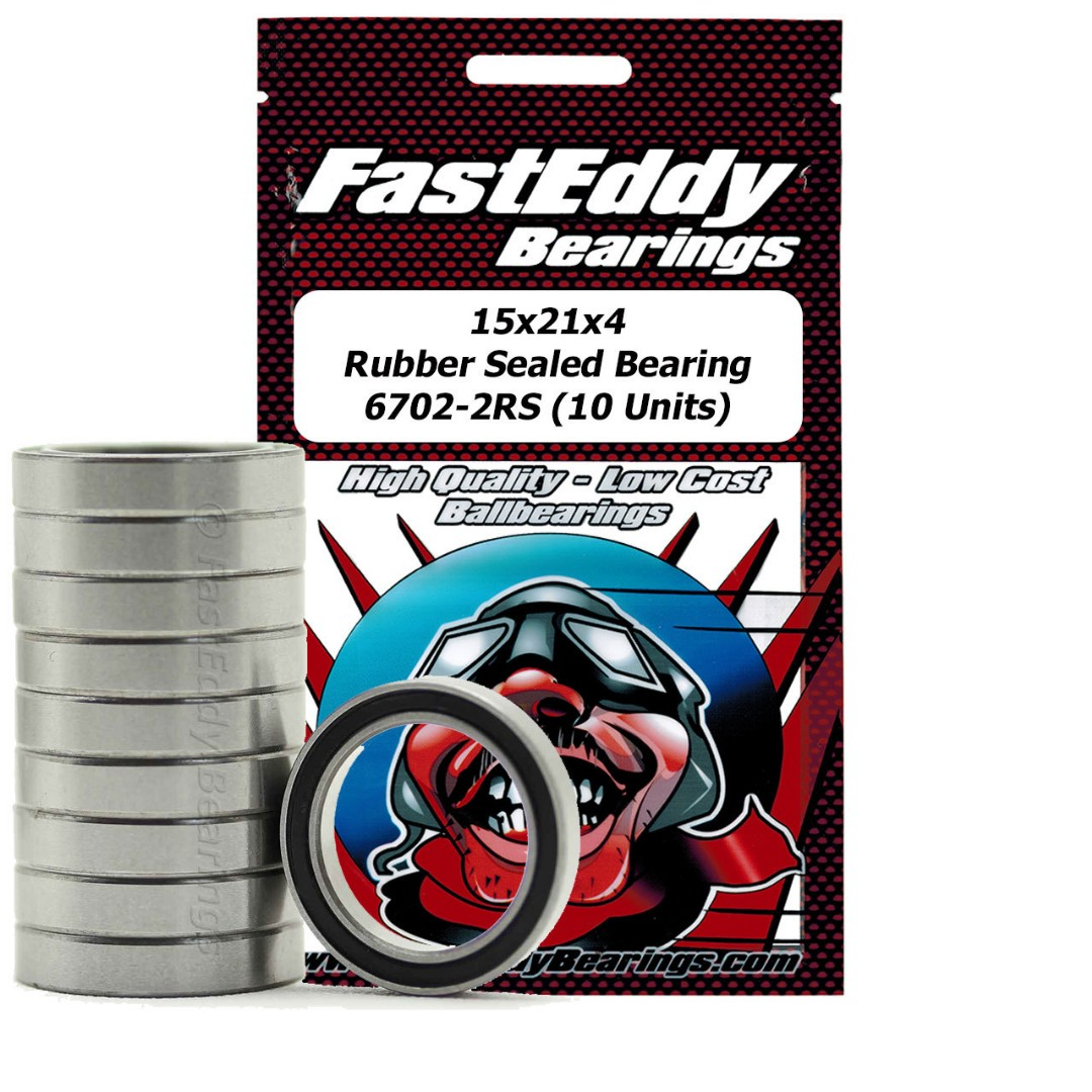 Fast Eddy 15x21x4 Rubber Sealed Bearing 6702-2RS (10)