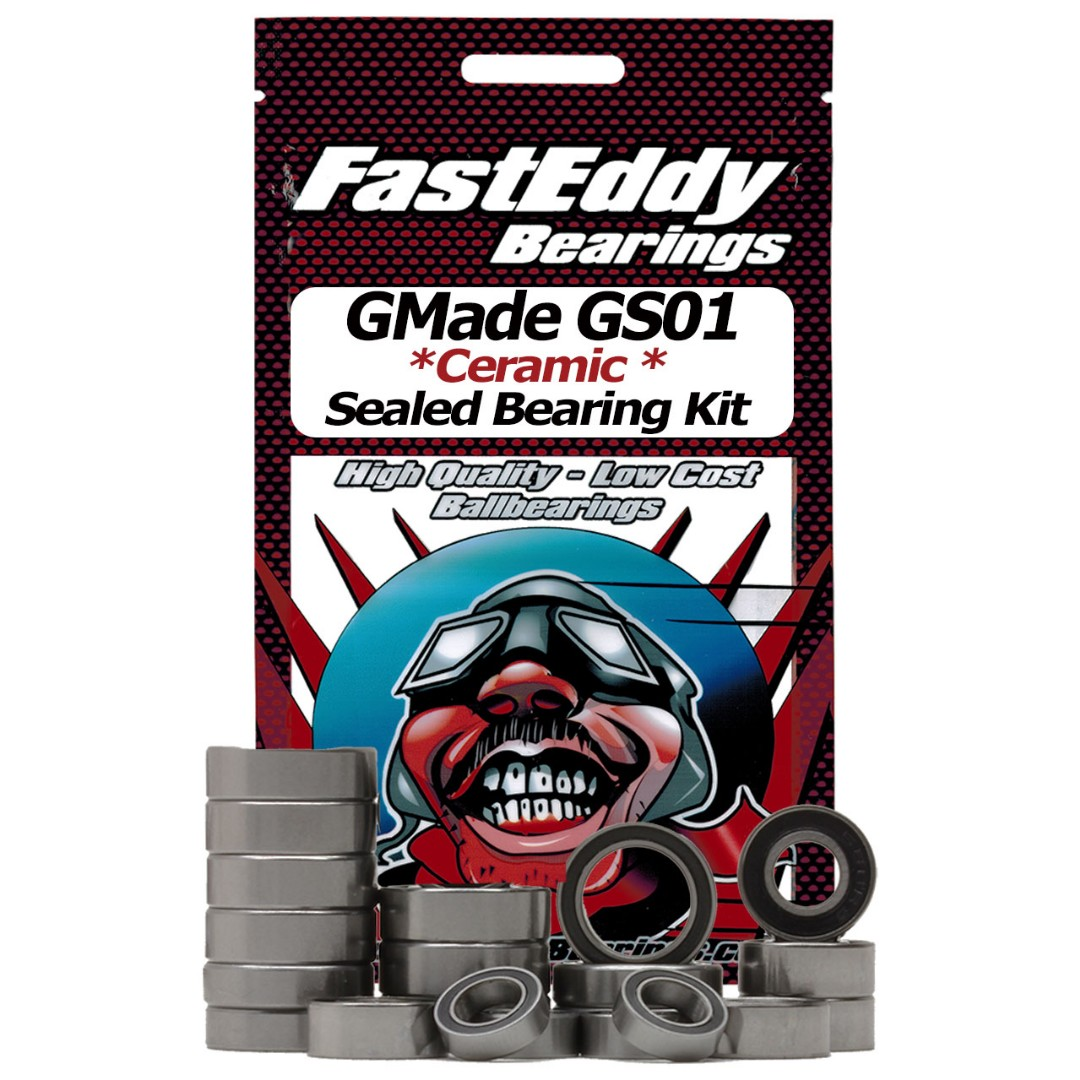 Fast Eddy GMade GS01 Sawback Ceramic Rubber Sealed Bearing Kit