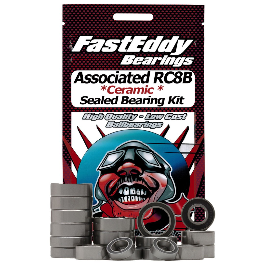 Fast Eddy Associated RC8B Ceramic Rubber Sealed Bearing Kit