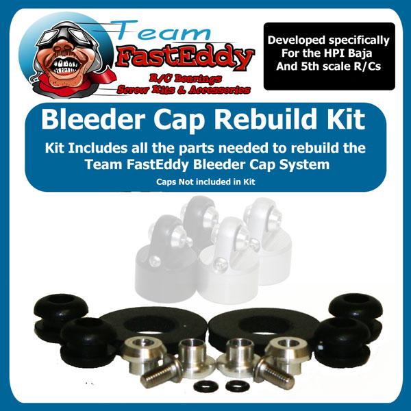 Fast Eddy TFE Bleeder Cap Rebuild Kits