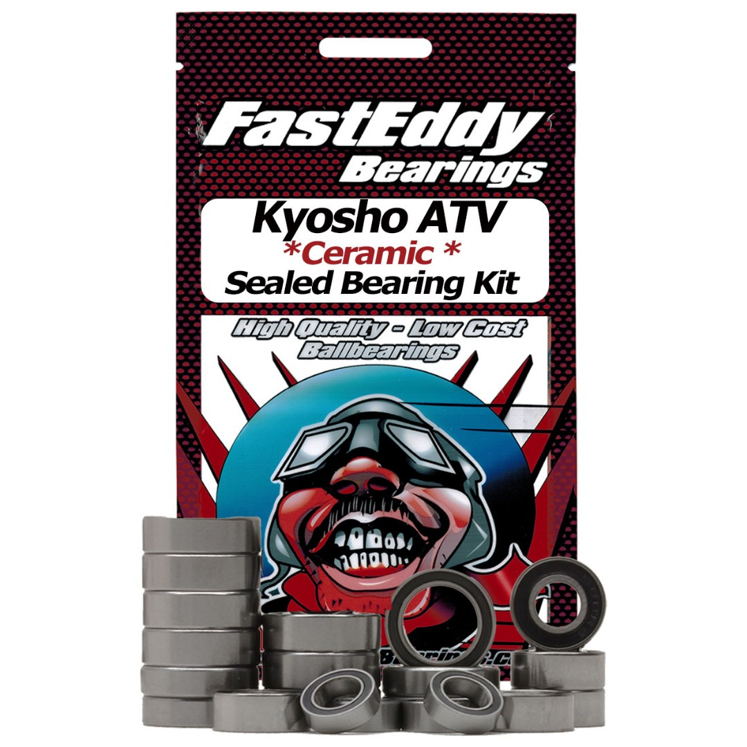 Fast Eddy Kyosho ATV Ceramic Rubber Sealed Bearing Kit