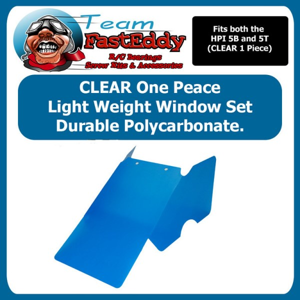 Fast Eddy Lite weight, One peace window set. (CLEAR)