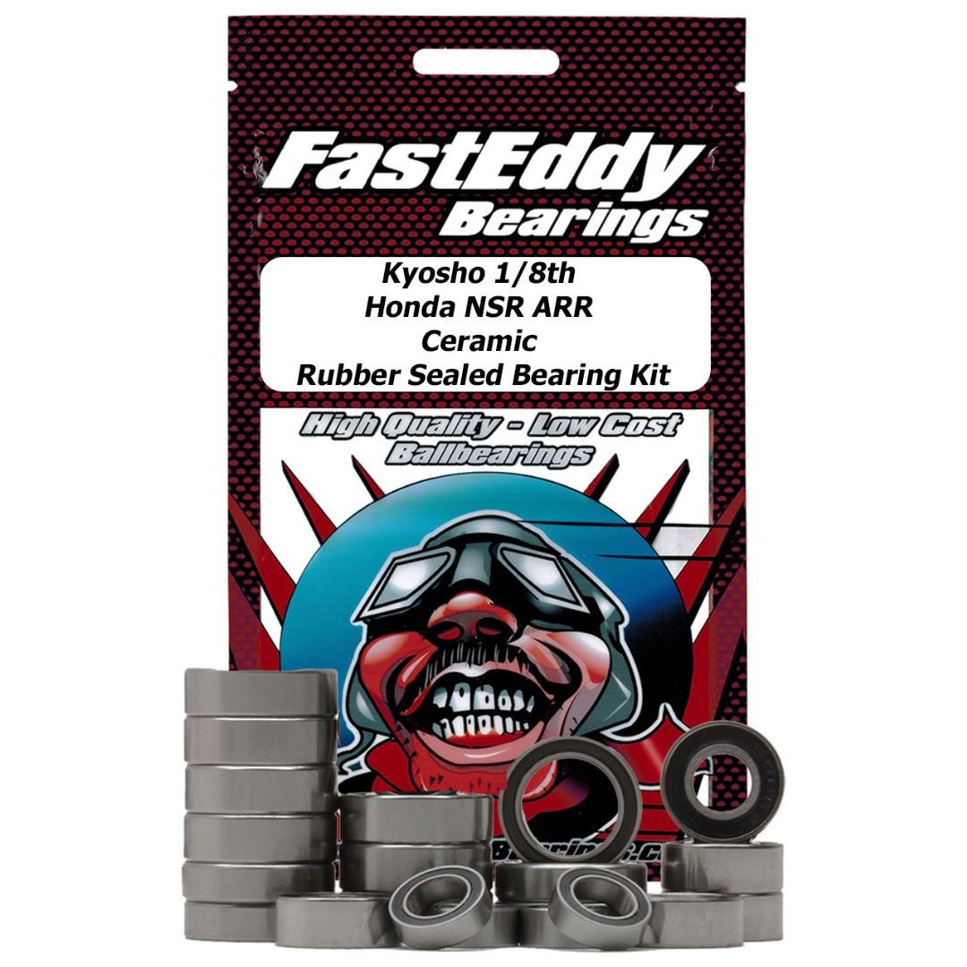 Fast Eddy Kyosho 1/8th Honda NSR ARR Ceramic Rubber Sealed Bearing Kit