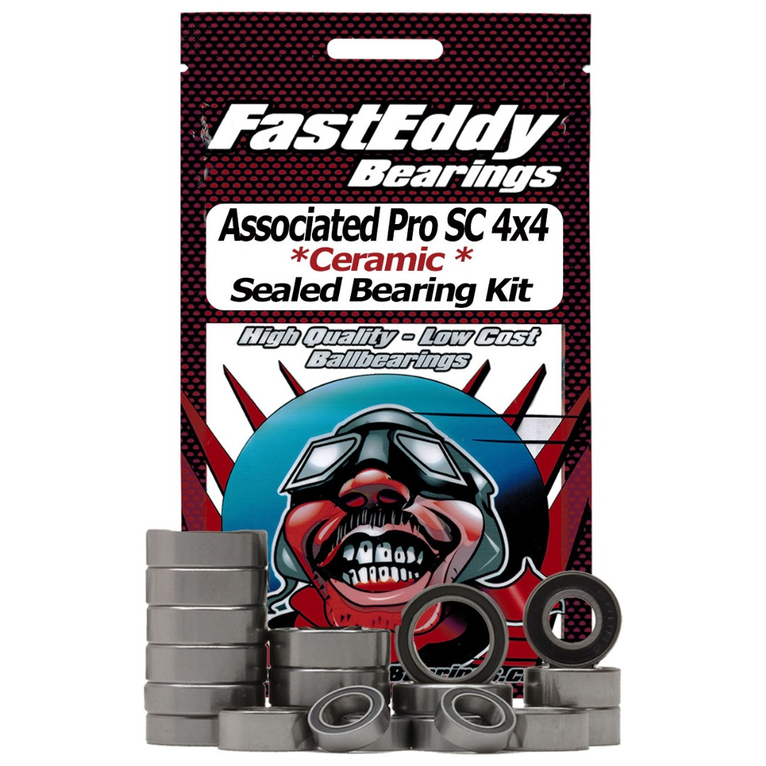 Fast Eddy Associated Pro SC 4x4 Short Course RTR Ceramic Rubber Sealed Bearing Kit
