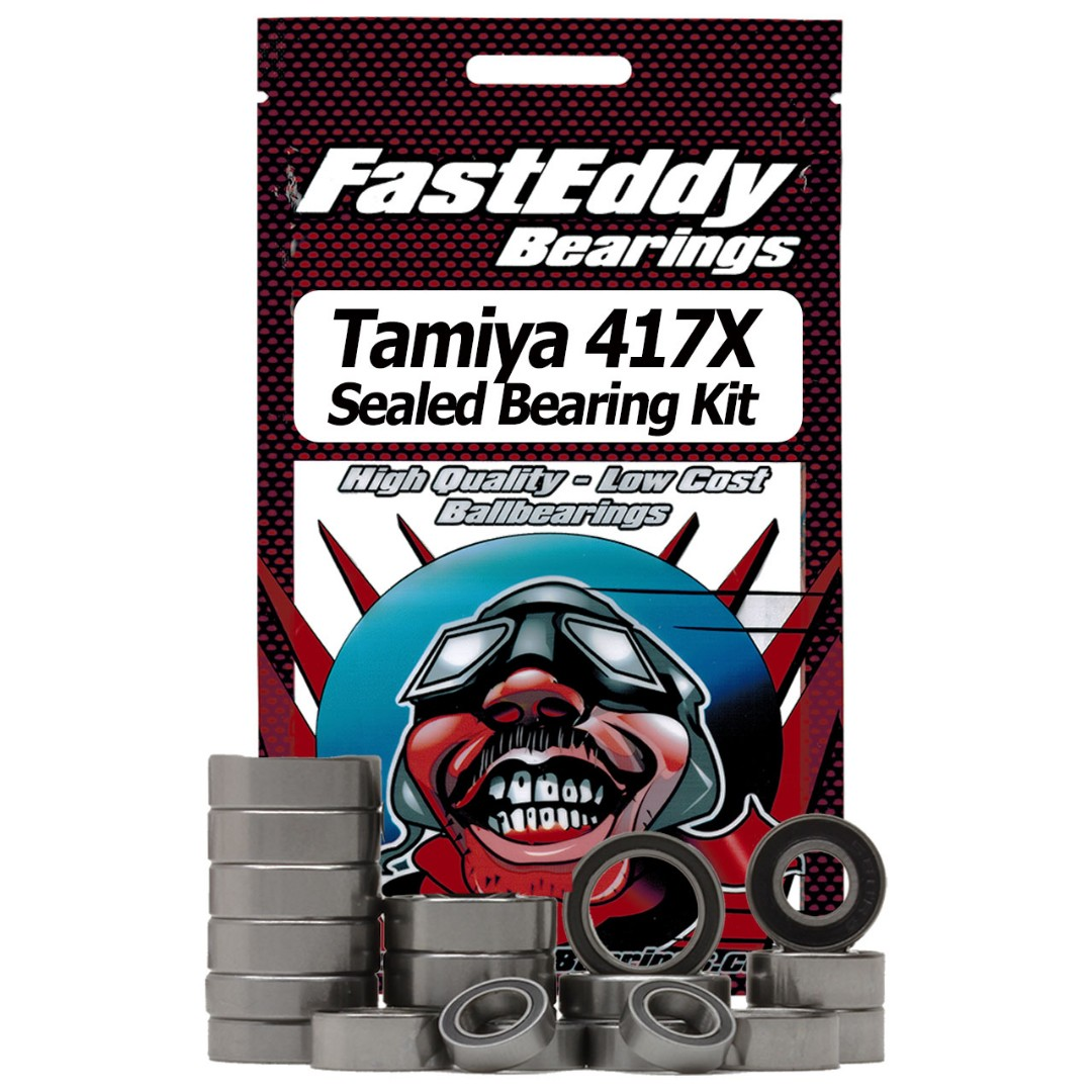 Fast Eddy Tamiya 417X Chassis Rubber Sealed Bearing Kit