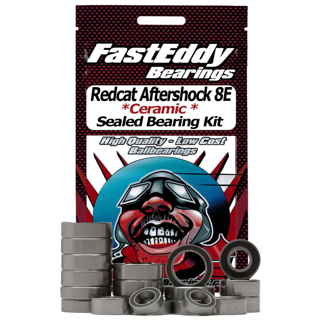 Fast Eddy Redcat Aftershock 8E Ceramic Rubber Sealed Bearing Kit