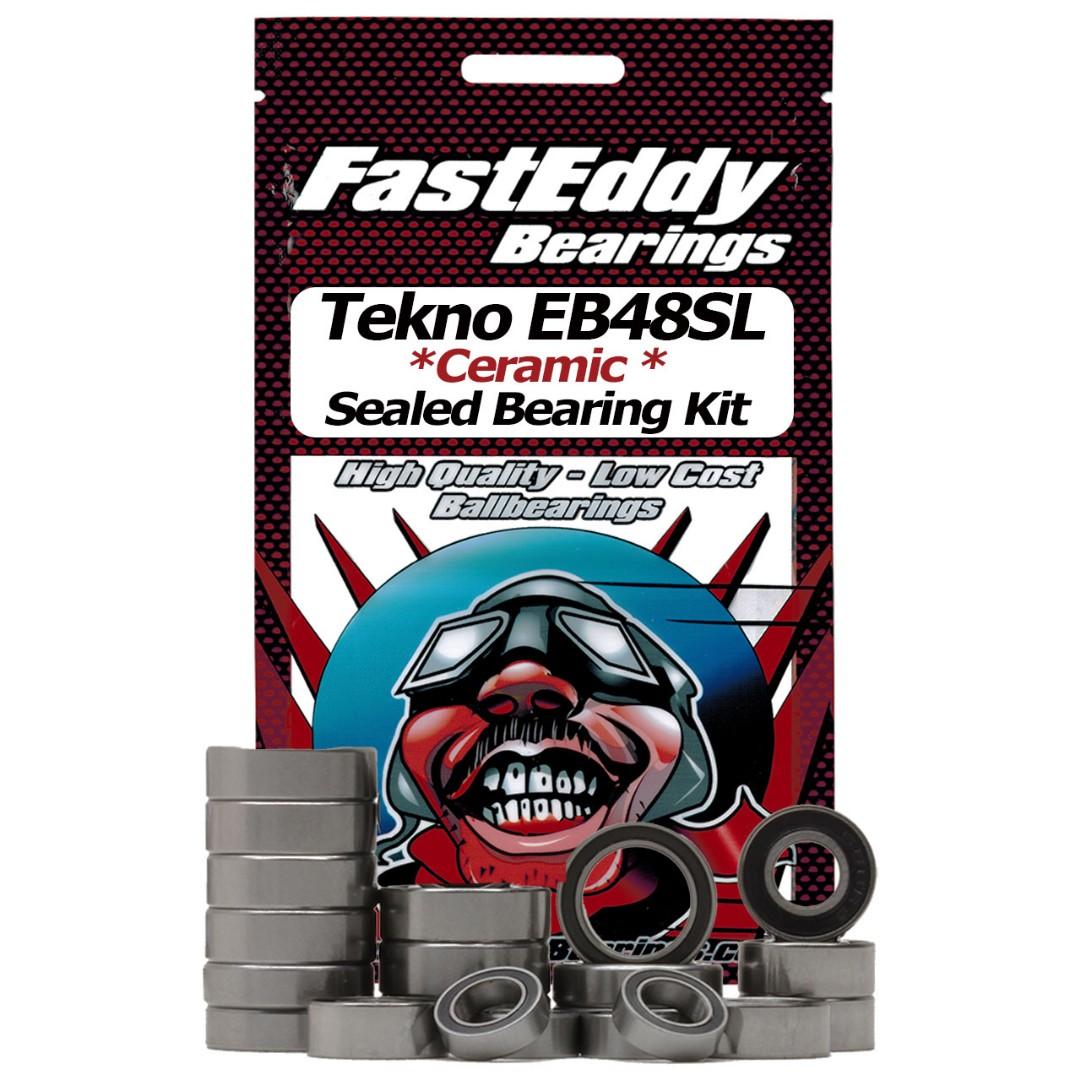 Fast Eddy Tekno RC EB48SL Ceramic Rubber Sealed Bearing Kit