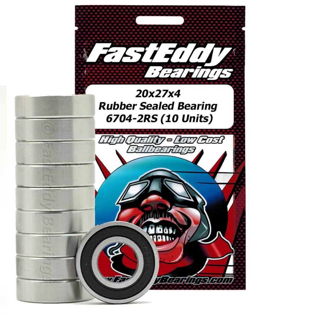 Fast Eddy 20x27x4 Rubber Sealed Bearings 6704-2RS (10)