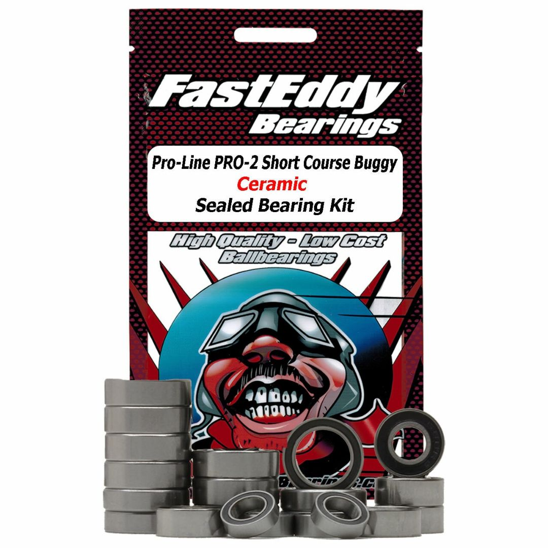 Fast Eddy Pro-Line PRO-2 Short Course Buggy Ceramic Sealed Bearing Kit