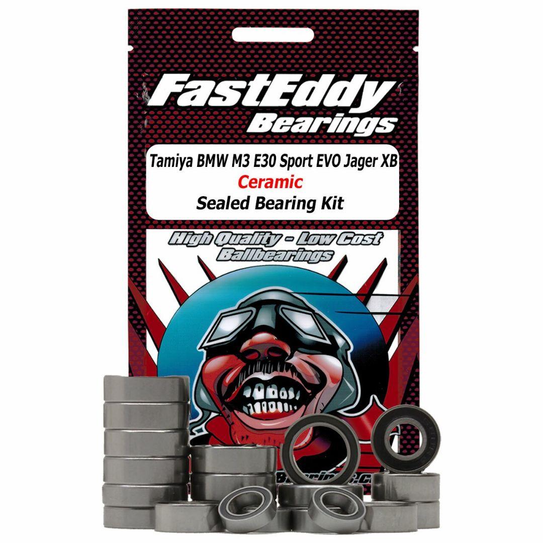 Fast Eddy Tamiya M3 E30 Sport EVO Jagermeister XB (TT-01E) Ceramic Sealed Bearing Kit