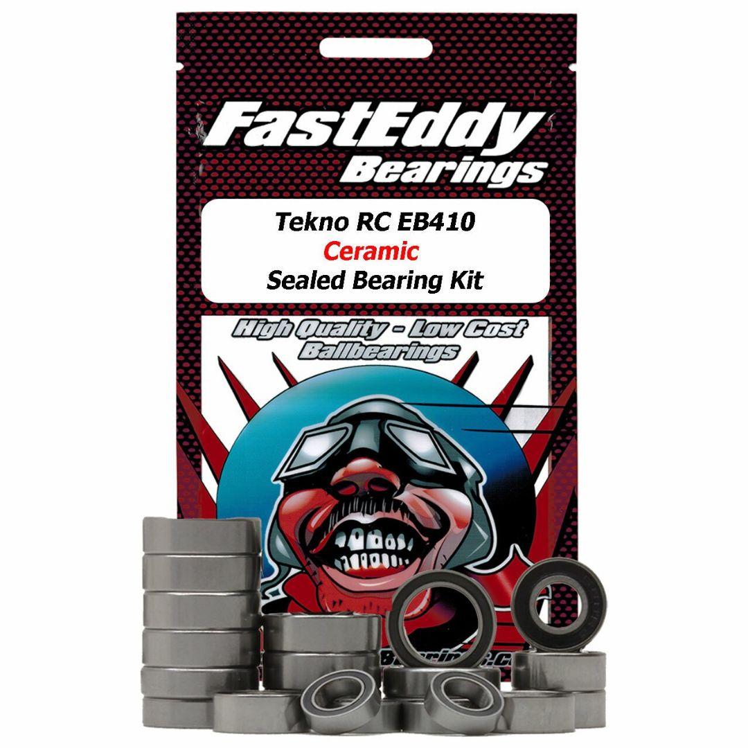 Fast Eddy Tekno RC EB410 Ceramic Sealed Bearing Kit
