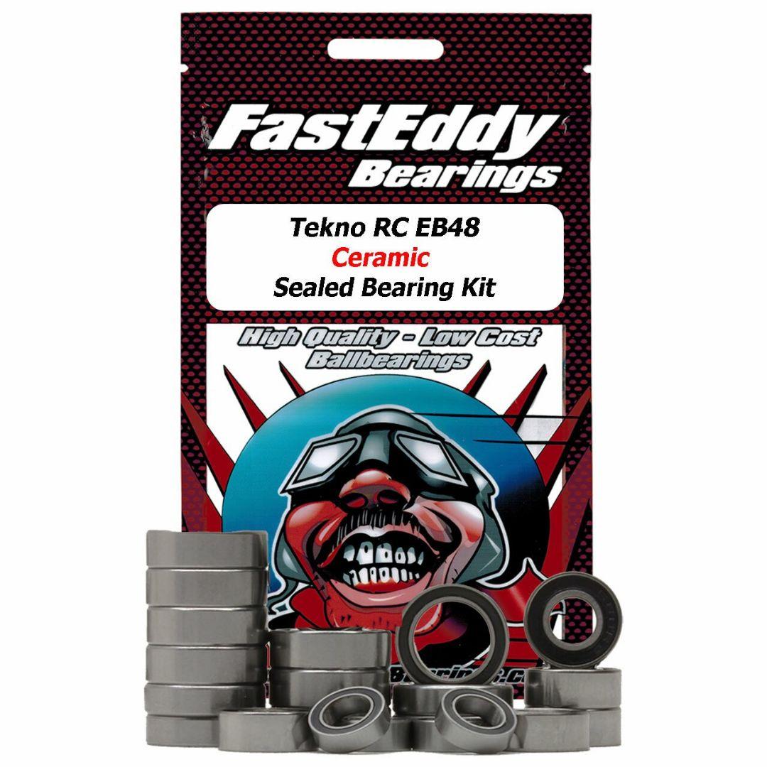 Fast Eddy Tekno RC EB48 Ceramic Sealed Bearing Kit