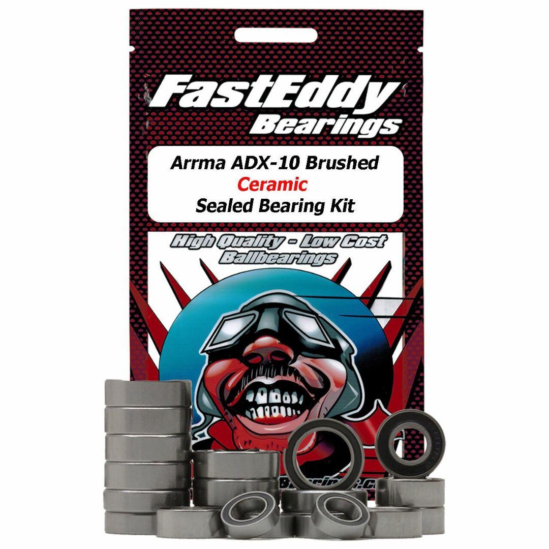 Fast Eddy Arrma ADX-10 Brushed 2wd Ceramic Rubber Sealed Bearing Kit