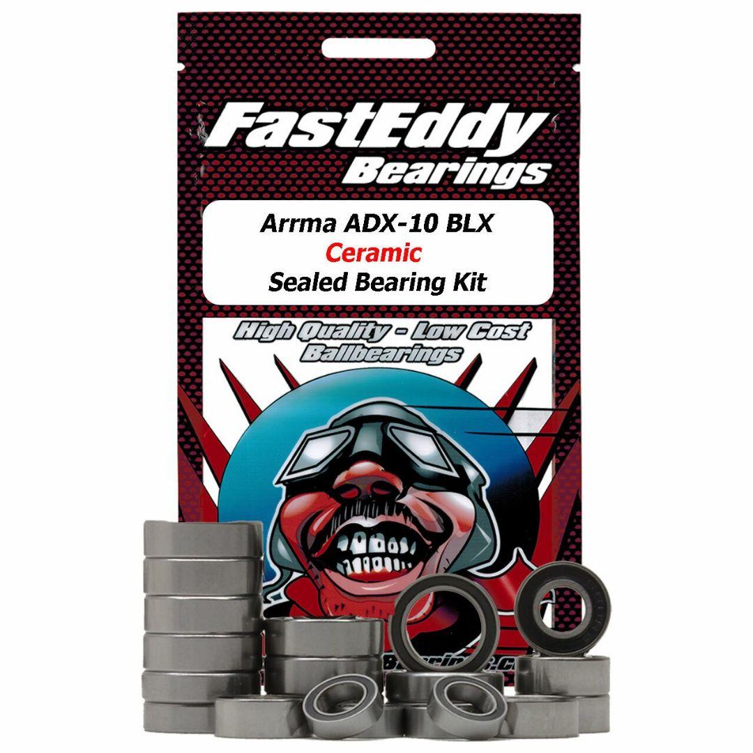 Fast Eddy Arrma ADX-10 BLX 2wd Ceramic Rubber Sealed Bearing Kit
