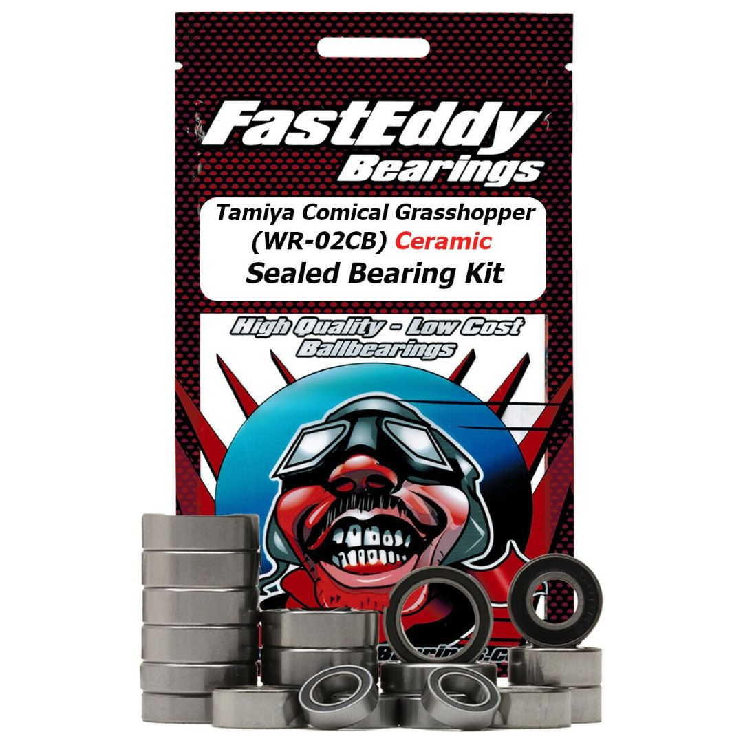 Fast Eddy Tamiya Comical Grasshopper (WR-02CB) Ceramic Sealed Bearing Kit