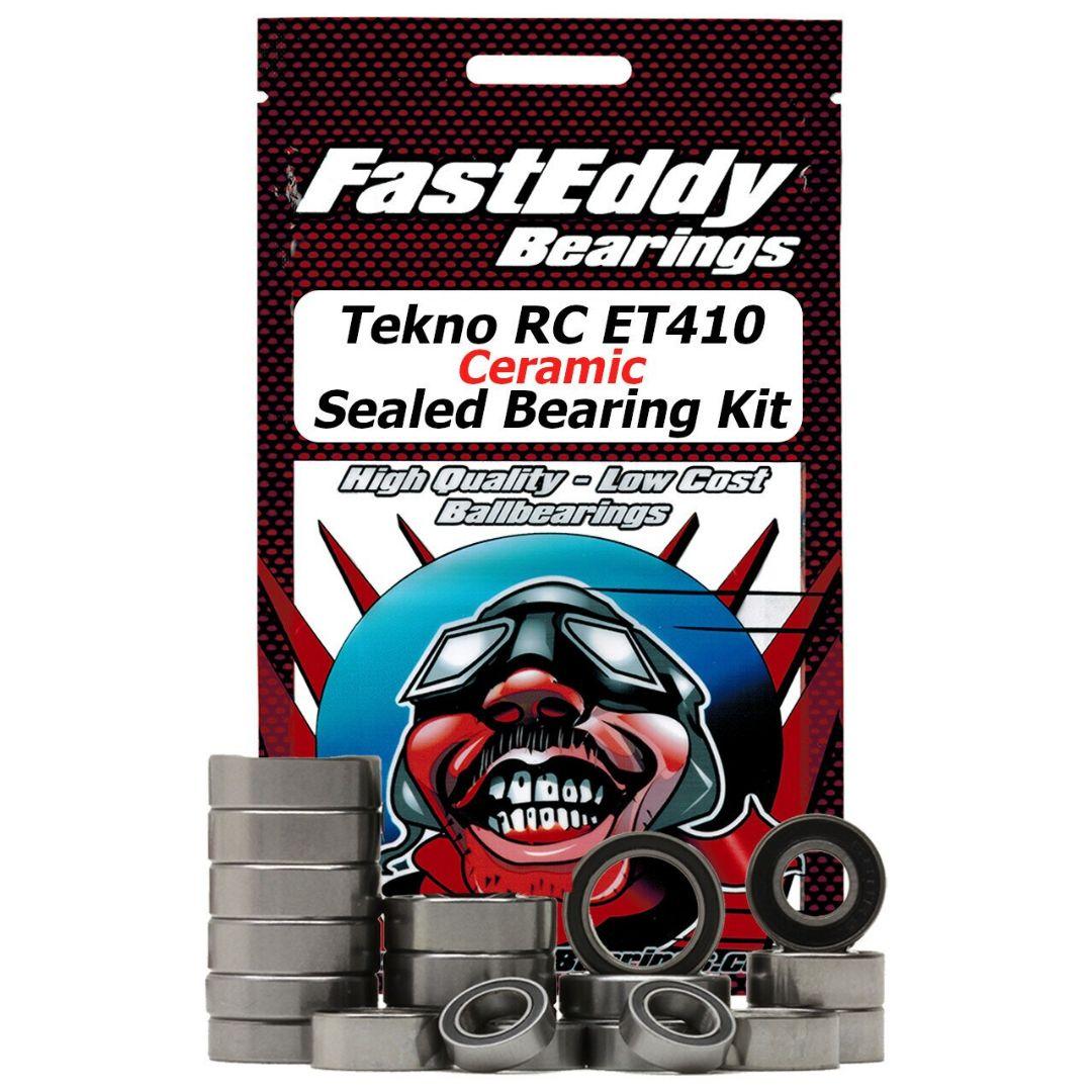 Fast Eddy Tekno RC ET410 Ceramic Sealed Bearing Kit