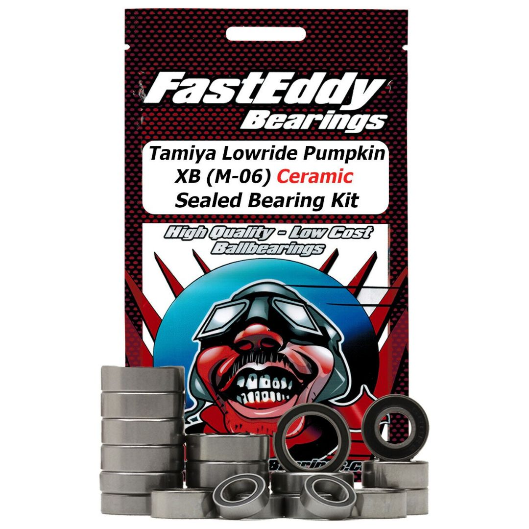 Fast Eddy Tamiya Lowride Pumpkin XB (M-06) Ceramic Sealed Beari
