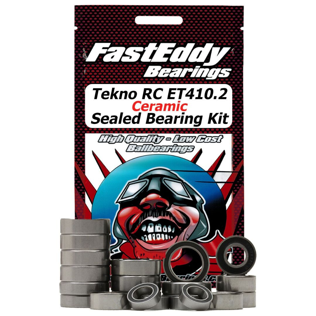 Fast Eddy Tekno RC ET410.2 Ceramic Sealed Bearing Kit