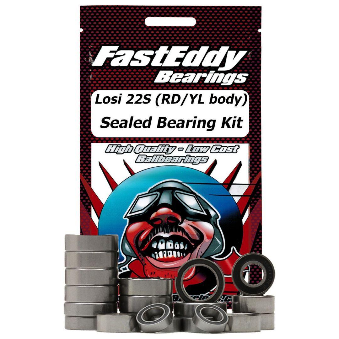Fast Eddy Losi 22S ST (RD/YL body) Sealed Bearing Kit