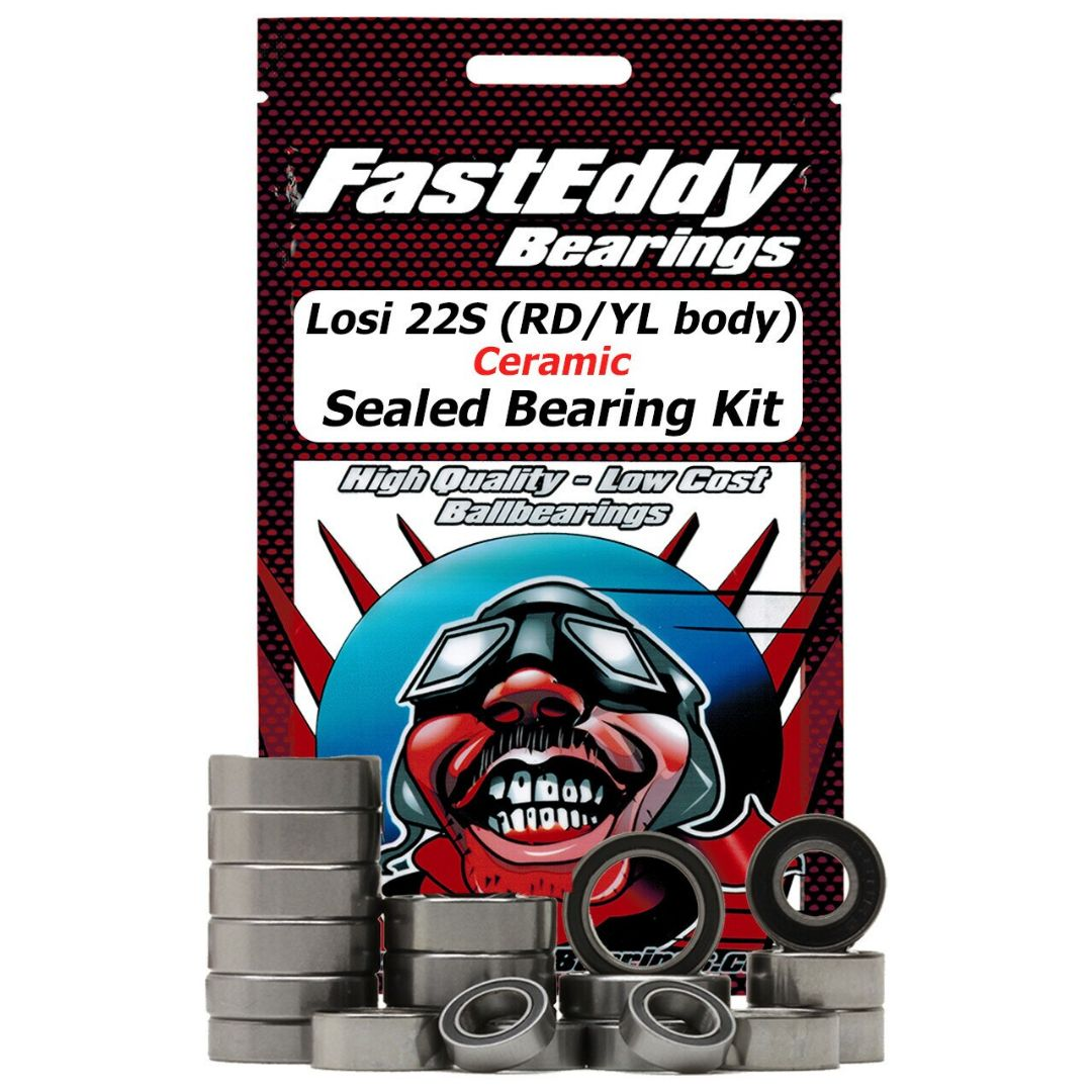 Fast Eddy Losi 22S ST (RD/YL body) Ceramic Sealed Bearing Kit