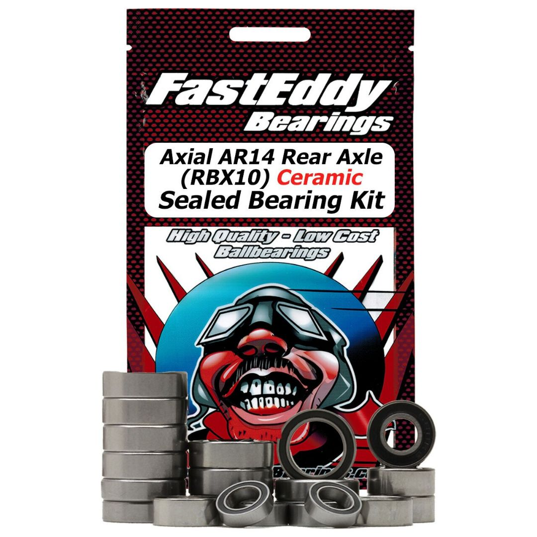 Fast Eddy Axial AR14 Rear Axle (RBX10) Ceramic Sealed Bearing Kit