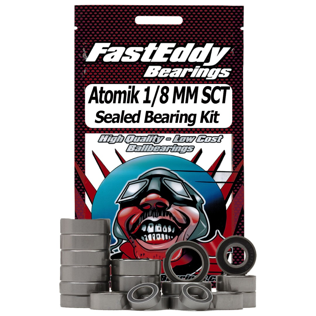 Fast Eddy Atomik 1/8 Metal Mulisha Short Course Truck Sealed Bearing Kit