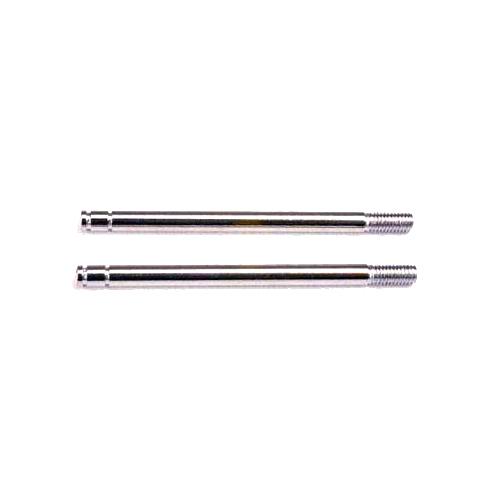 Traxxas Shock shafts, steel, chrome finish (long) (2)