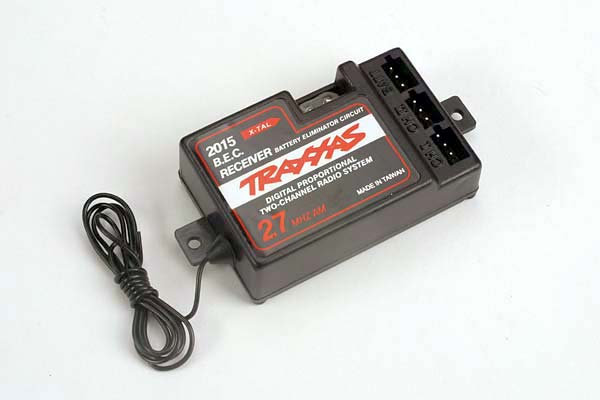 Traxxas 27mhz 2-Channel AM Receiver w/Bec