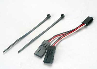 Traxxas Servo connector, Y Adapter (For Dual-Servo Steering)