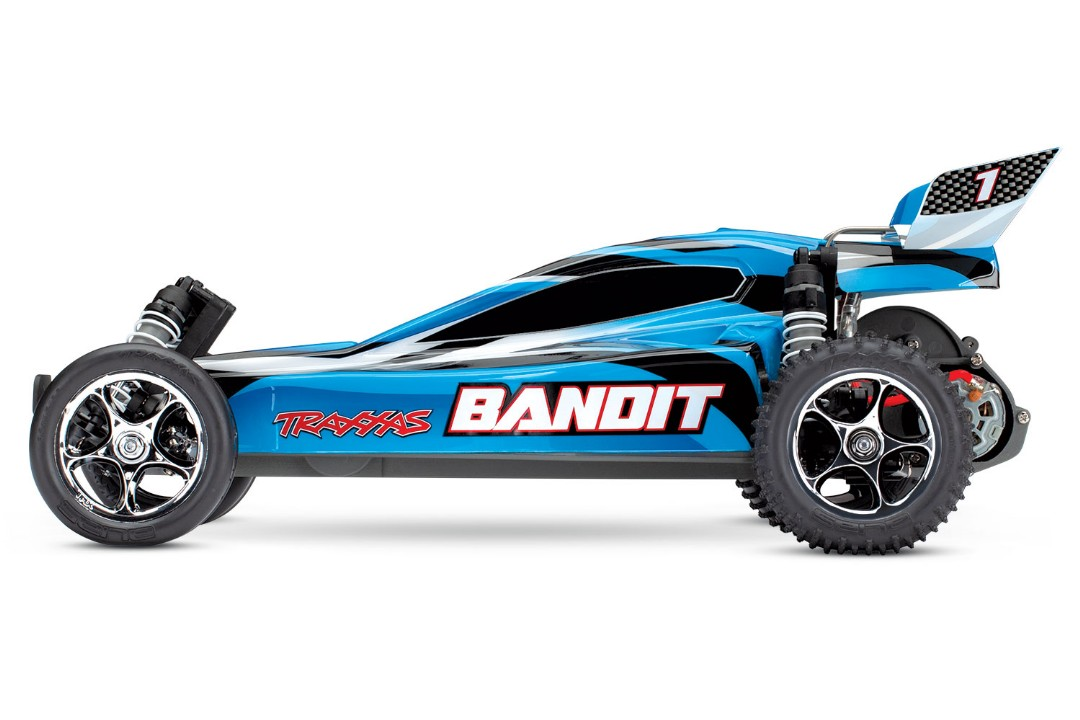 Traxxas Bandit 1/10 RTR Buggy BlueX - Click Image to Close