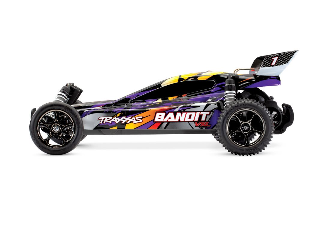 Traxxas Bandit VXL Brushless 1/10 RTR 2WD Buggy - Purple - Click Image to Close
