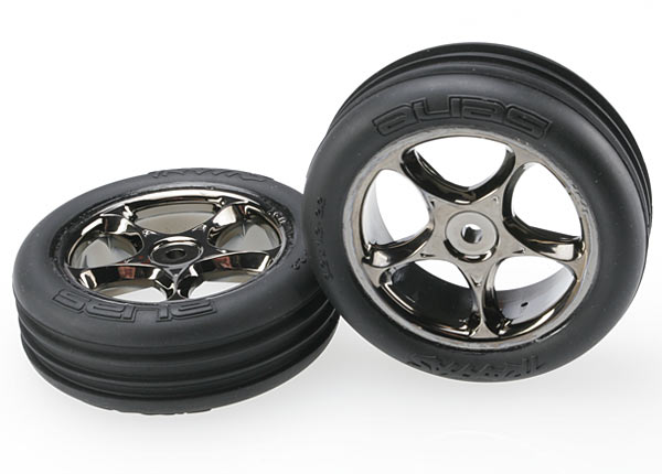 Traxxas Tires & wheels, assembled (Tracer 2.2