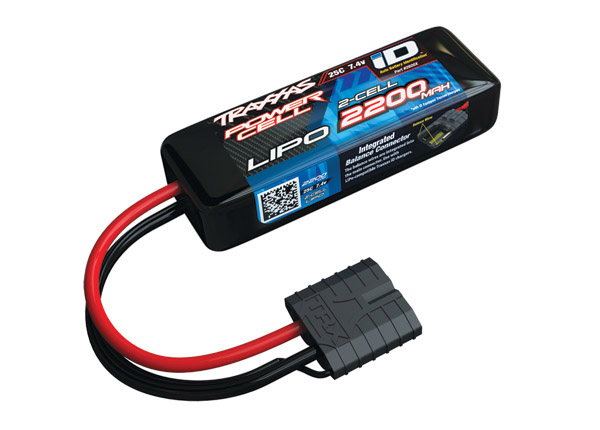 Traxxas 2200mAh 2S 7.4V 25C LiPo iD Connector Soft Case