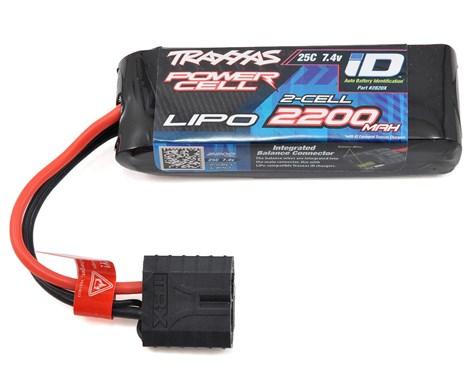Traxxas 2200mAh 2S 7.4V 25C LiPo iD Connector Soft Case
