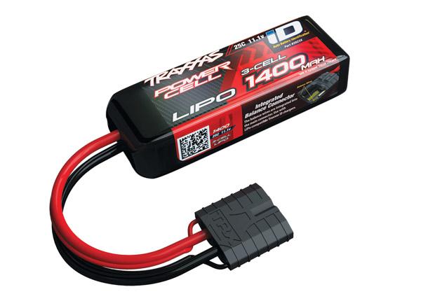 Traxxas 1400mAh 3S 11.1V 25C LiPo iD Connector Soft Case 88x20x35mm