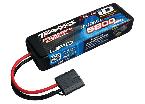 Traxxas 5800mAh 2S 7.4V 25C LiPo iD Connector Soft Case