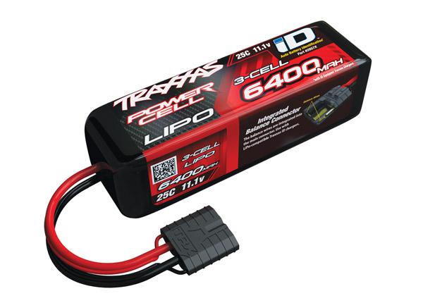 Traxxas 6400mAh 3S 11.1V 25C LiPo iD Connector Soft Case 135x42x45mm