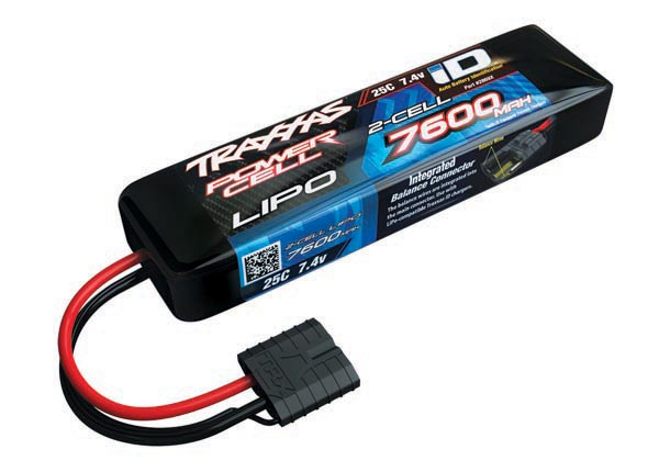 Traxxas 7600mAh 2S 7.4V 25C LiPo iD Connector Soft Case