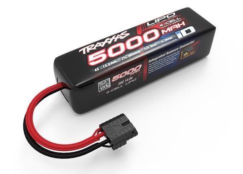 Traxxas 5000mAh 4S 14.8V 25C LiPo iD Plug Soft Case (Long) 155x34x45mm
