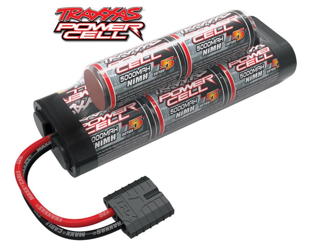 Traxxas Series 5 Power Cell 5000mAh 9.6V NiMH iD Plug Hump 135x24x45mm