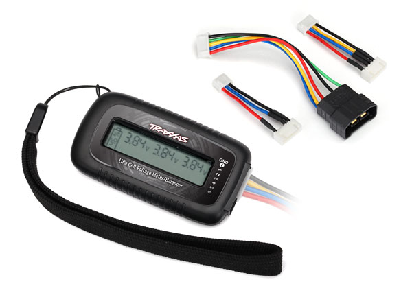 Traxxas LiPo cell voltage checker/balancer (includes #2938X adapter for Traxxas iD batteries)
