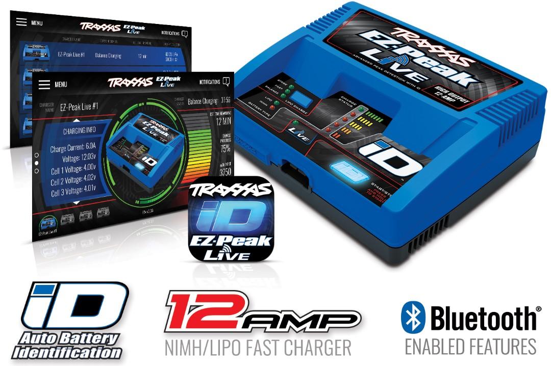 Traxxas EZ-Peak Live 100W 12A NiMH/LiPo with iD Auto Battery Identification