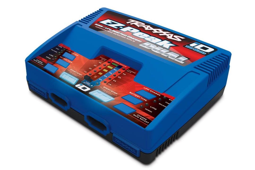Traxxas Charger, EZ-Peak Dual, 100W, NiMH/LiPo with iD Auto Battery Identification