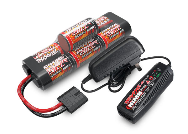 Traxxas Battery/charger completer pack (includes TRA2969 2-amp NiMH peak detecting AC charger (1),TRA2926X 3000mAh 8.4V 7-cell NiMH battery (1))