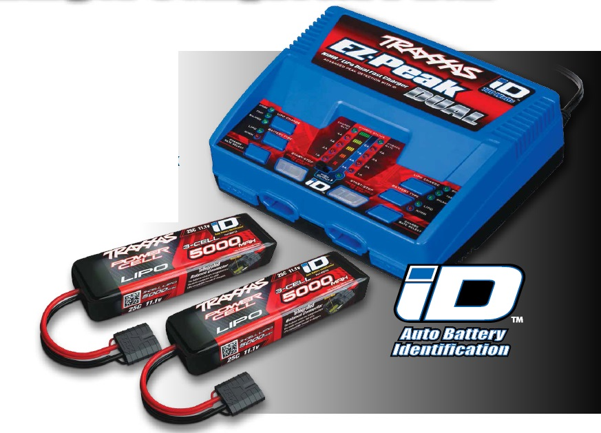 Traxxas EZ-Peak Dual 3S Completer Pack with 2x 5000mAh LiPo