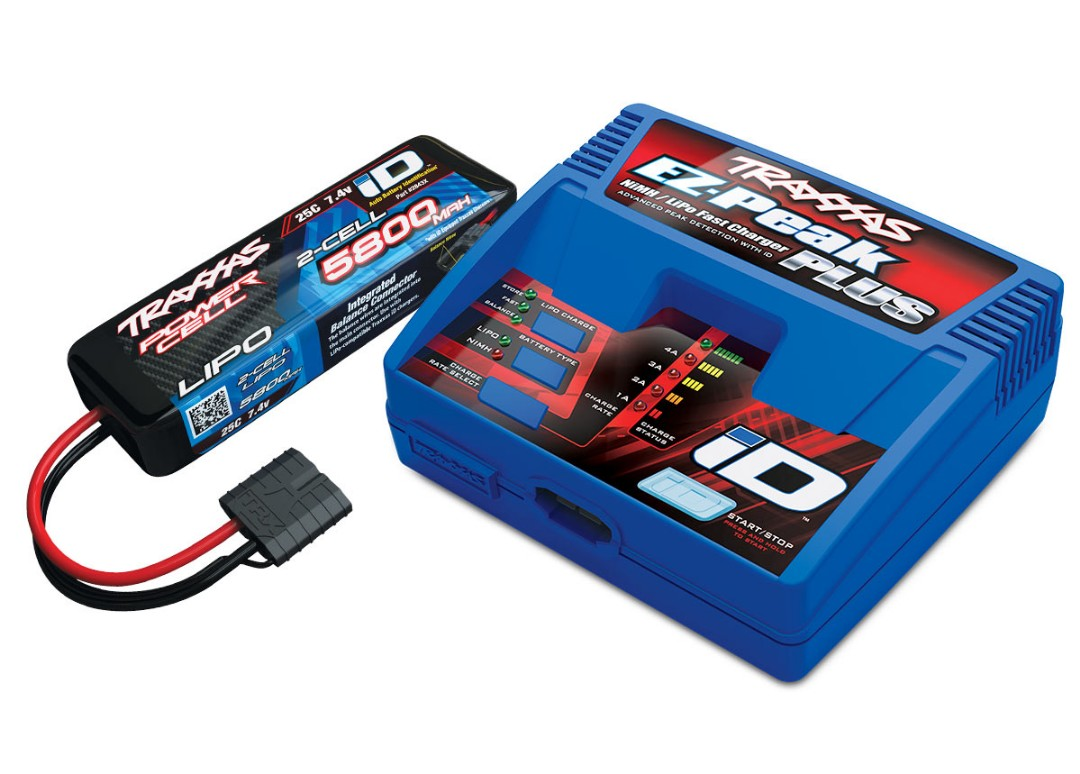 Traxxas EZ-Peak 2S Completer Pack with a 5800mAh LiPo