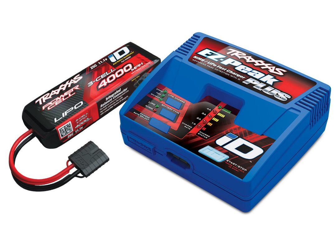 Traxxas EZ-Peak 3S Completer Pack with a 4000mAh LiPo
